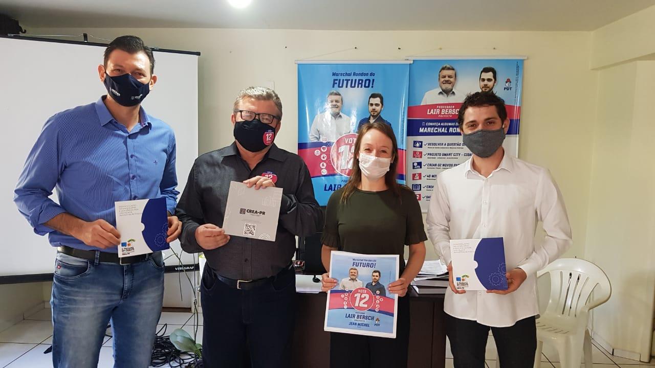 Cascavel - Candidatos a prefeitos de Marechal Cândido Rondon são os primeiros da região Oeste a receber as propostas da Agenda Parlamentar 2020 do Crea-PR