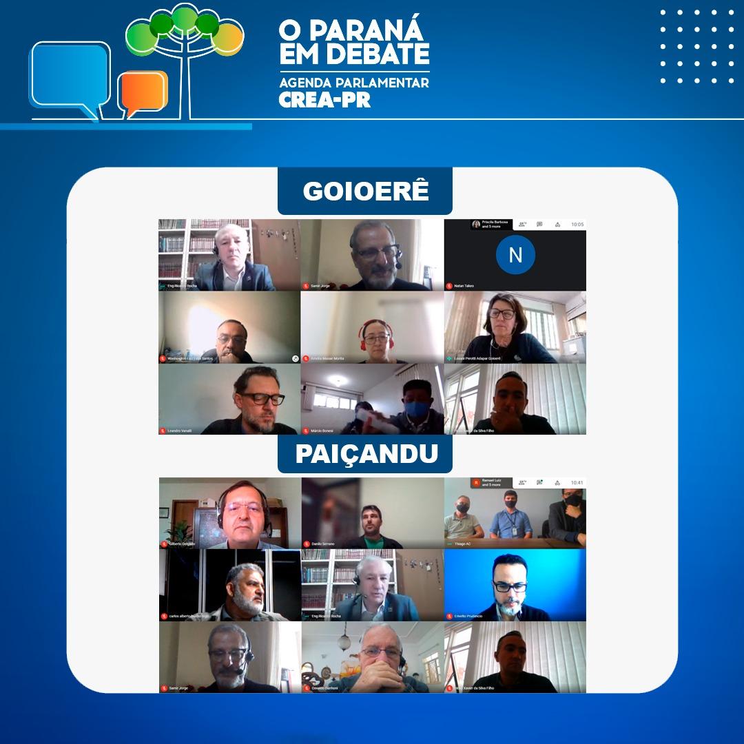 Presidente do Crea-PR participa de ações da Agenda Parlamentar em Goioerê e Paiçandu